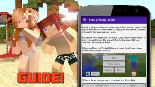 Hot skins for minecraft vol.2 apk screenshot
