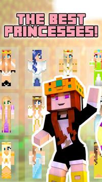 Princess skins for minecraft poster