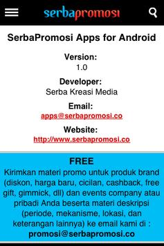 Serba Promosi apk screenshot