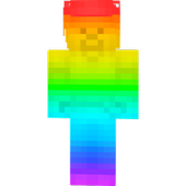 Rainbow Steve Skin For Android Apk Download