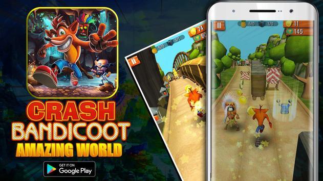 Bandicoot Adventure Game Crash poster