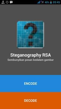 Steganografi RSA poster