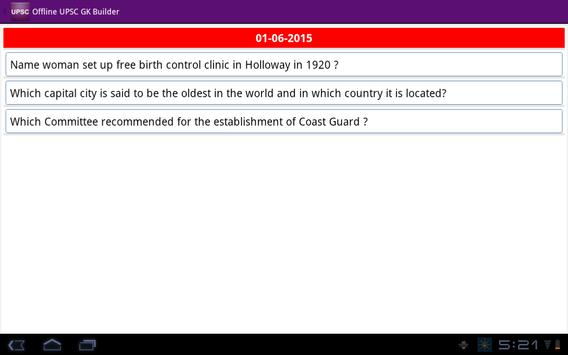 Offline UPSC GK Builder apk screenshot