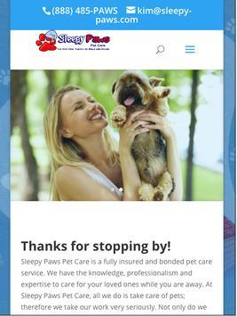 Sleepy Paws Pet Care poster