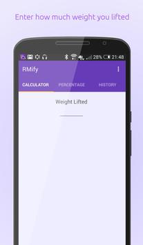 1 Rep Max Calculator + poster