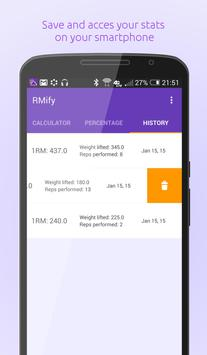 1 Rep Max Calculator + apk screenshot