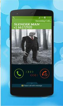 fake call from slenderman apk screenshot