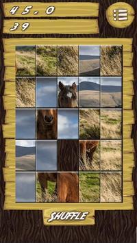 Slider Puzzle Game Wild Horses screenshot 3