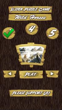 Slider Puzzle Game Wild Horses poster