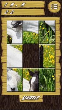 Slider Puzzle Game Wild Horses screenshot 1