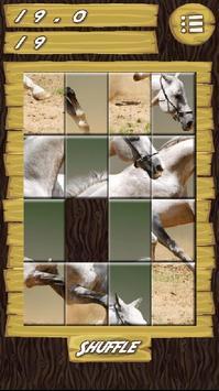 Slider Puzzle Game Wild Horses screenshot 2