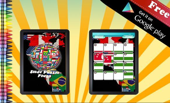 Sliding Puzzle Flags apk screenshot