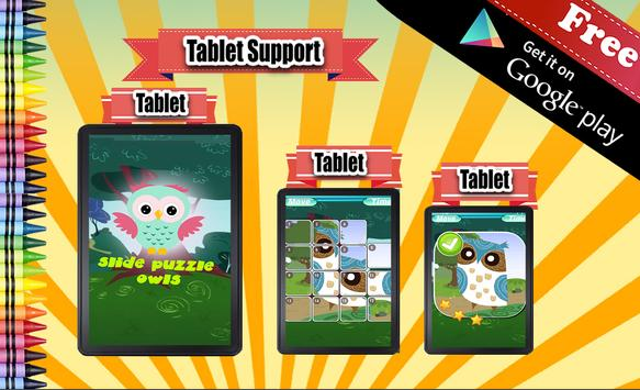 Sliding Puzzle Owls apk screenshot
