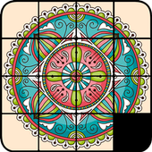 Sliding Puzzle Mandala icon