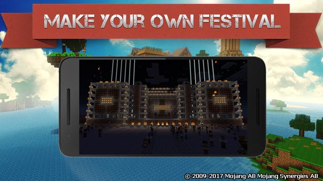 Music Festival map for MCPE poster