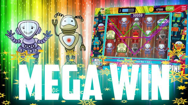 Mega Robots Slots – Free Vegas Machines apk screenshot