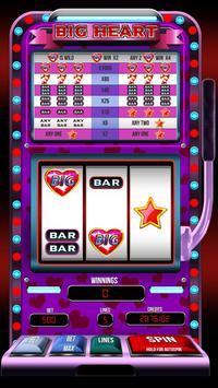 FREE Big Heart slot machine poster