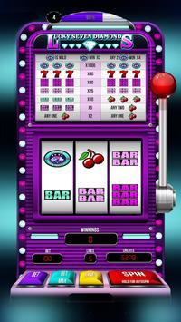 Lucky 7 Diamonds Slots! poster