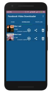 Video Downloader for facebook screenshot 1