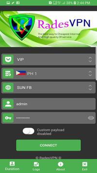 Rades VPN screenshot 1