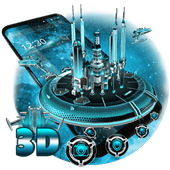 3D Space Galaxy Theme icon