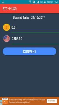 BTC to USD Converter ảnh chụp màn hình 2