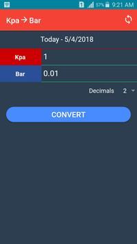Kpa to Bar Converter poster