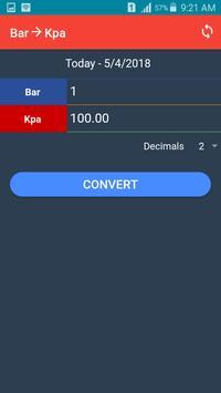 Kpa to Bar Converter screenshot 2