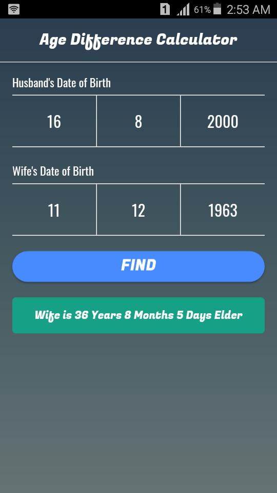 age difference calculator dating