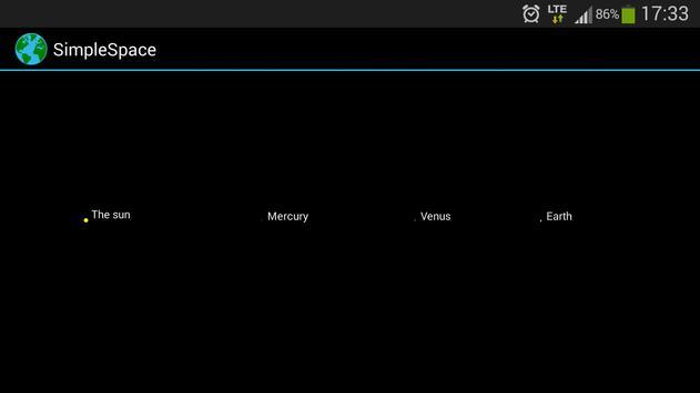 SimpleSpace screenshot 1