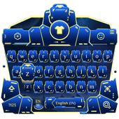 blue spacecraft keyboard ufo stars alien trek icon