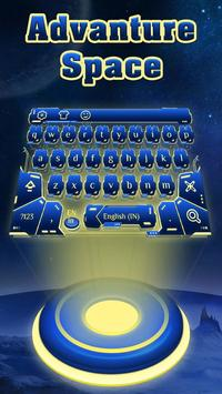 blue spacecraft keyboard ufo stars alien trek poster