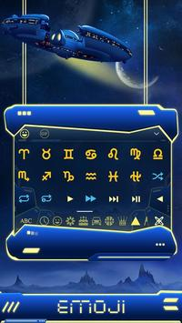 blue spacecraft keyboard ufo stars alien trek screenshot 1