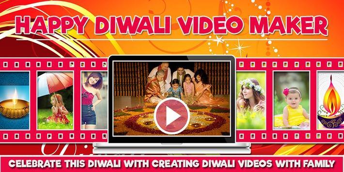 Happy Diwali Video Maker, Diwali Photo Video Maker poster