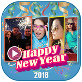 New Year Photo Video Maker 2018 icon
