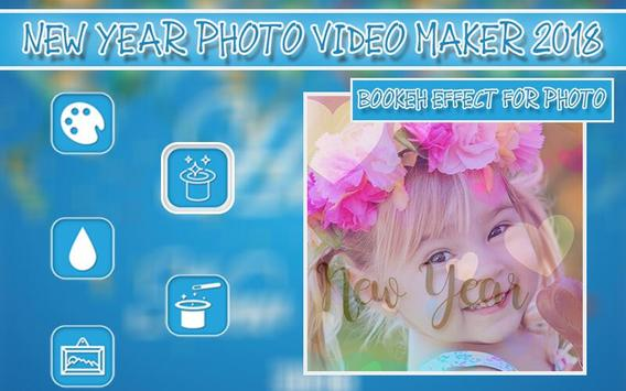 New Year Photo Video Maker 2018 screenshot 1