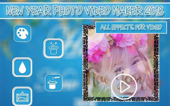 New Year Photo Video Maker 2018 screenshot 4