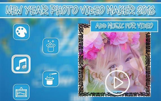 New Year Photo Video Maker 2018 screenshot 5