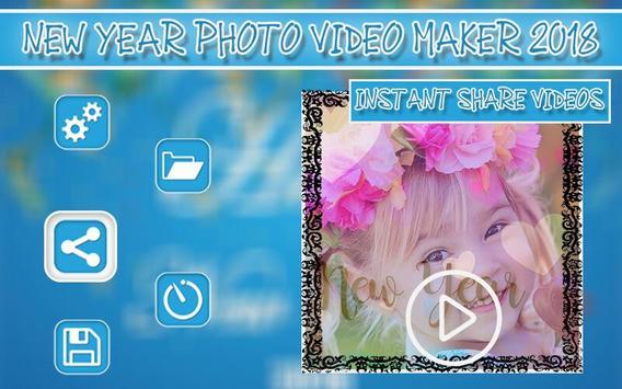 New Year Photo Video Maker 2018 screenshot 6