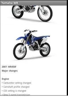 Yamaha WR apk screenshot