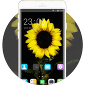 Theme for Spice M-5570 Sunflower Wallpaper HD icon