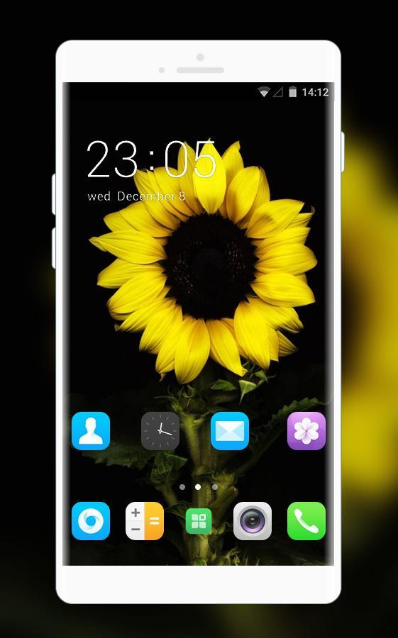 Theme for Spice M-5570 Sunflower Wallpaper HD poster