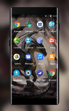 Theme for Spice M-6363 Dark Dragon Wallpaper screenshot 1