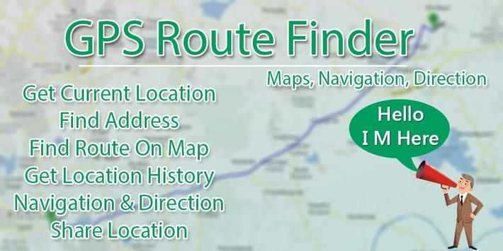 GPS Route Finder - Maps, Navigations & Directions poster
