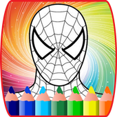 Coloring Book Pages for  Spider Superhero icon