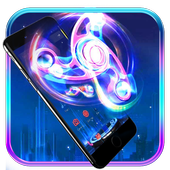 Neon Fidget Spinner Theme icon