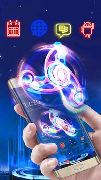 Neon Fidget Spinner Theme apk screenshot