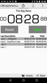 Ultrachron Stopwatch Lite Screenshot 3