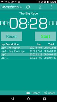 Ultrachron Stopwatch Lite Screenshot 5