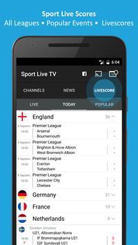 Sport TV Live - Live Score - Sport Television screenshot 2